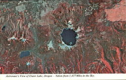 Astronaut's View Of Crater Lake