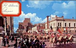 Annual Stock Show-Rodeo Parade Postcard