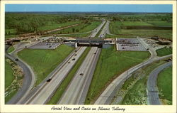 Aerial View And Oasis On Illinois Tollway Postcard