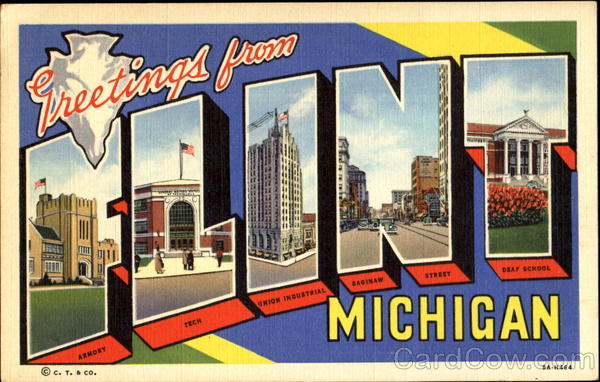 Greetings From Flint Michigan Large Letter