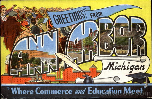 Greetings From Ann Arbor Michigan Large Letter