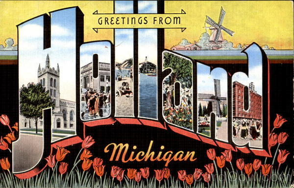 Greetings From Holland Michigan Large Letter