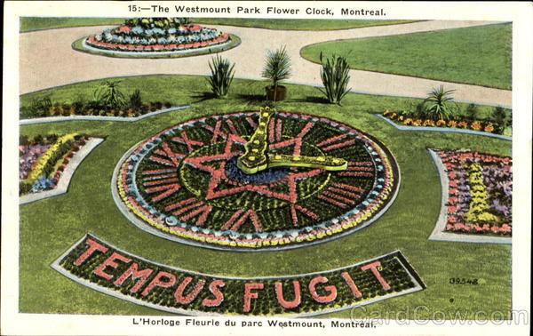 The Westmount Park Flower Clock Montreal Canada Quebec