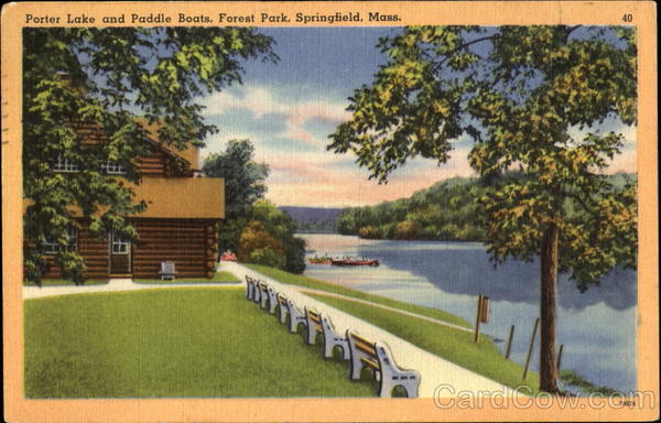Porter Lake And Paddle Boats, Forest Park Springfield Massachusetts