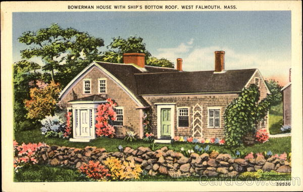 Bowerman House With Ship's Bottom Roof West Falmouth Massachusetts