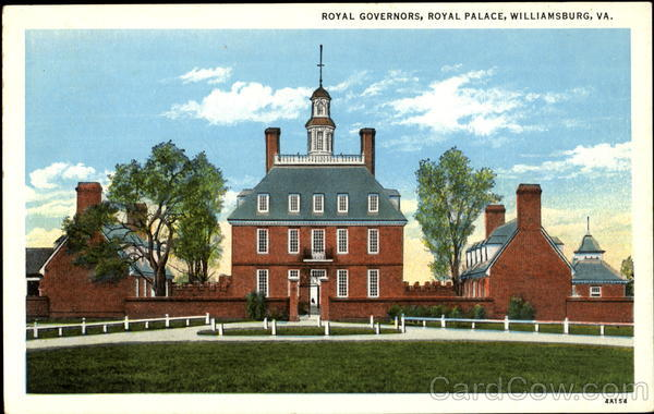 Royal Governors, Royal Palace Williamsburg Virginia