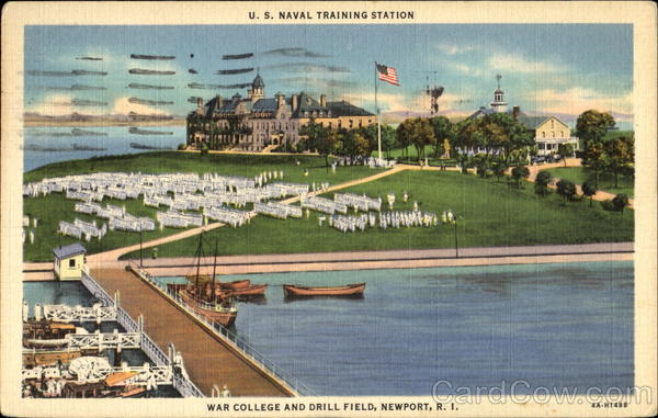 u  s  naval training station  war college and drill field