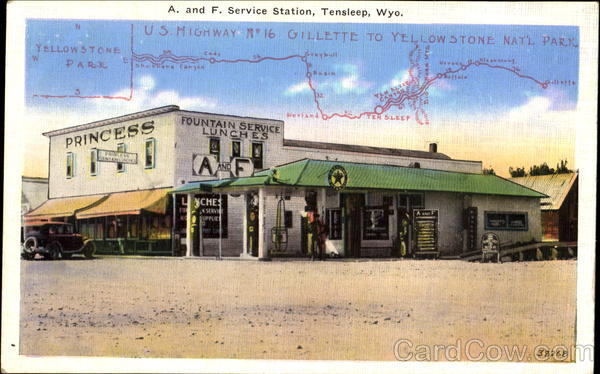 A. And F. Service Station Tensleep Wyoming