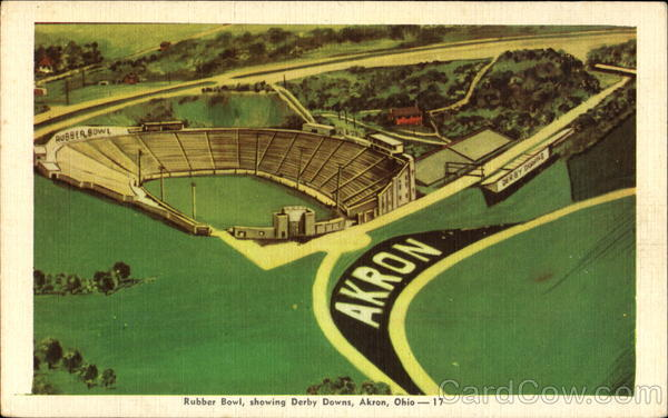 Rubber Bowl Showing Derby Downs Akron Ohio