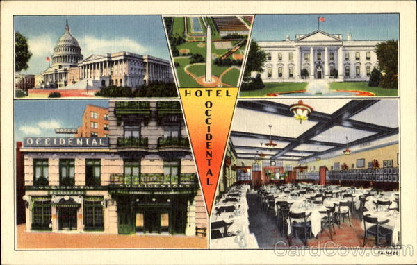 Hotel Occidental, 1411 Pennsylvania Ave., N. W. Washington District of Columbia