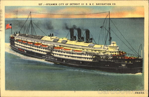 Steamer City Of Detroit Boats, Ships