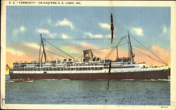 S. S. Yarmouth On Eastern S. S. Lines Inc. Boats, Ships