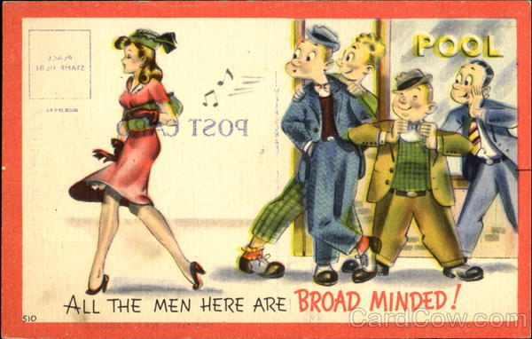 All The Men Here Are Broad Minded! Comic, Funny