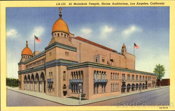 Al Malaikah Temple, Shrine Auditorium Los Angeles California