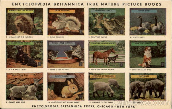 Encyclopaedia Britannica True Nature Picture Books