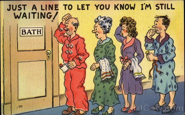 Just A Line To Let You Know I'M Still Waiting! Comic, Funny