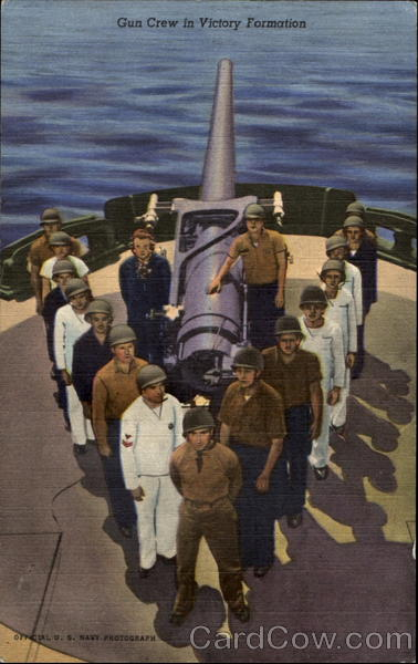 Gun Crew In Victory Formation Postcard