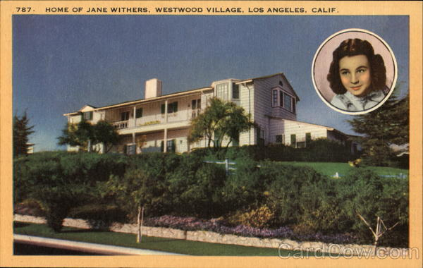 Home Of Jane Withers, Westwood Village Los Angeles California