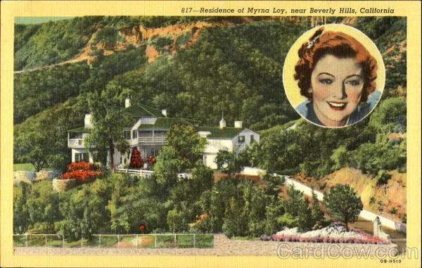 Residence Of Myrna Loy Beverly Hills California