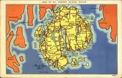 Map Of Mt. Desert Island Maine