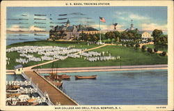 U. S. Naval Training Station, War College And Drill Field