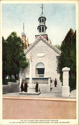 The Old Church And Miraculous Fountain Postcard
