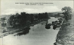 Early Scene Along The Illinois And Michigan Canal