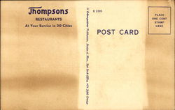 Thompsons Cafeteria, 725 - 14th Street N. W