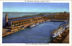 Montreal Harbour Central Part Postcard
