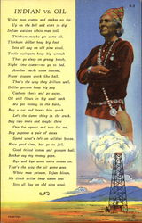 Indian Vs. Oil Postcard
