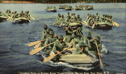 Landing Party In Rubber Boats, Camp Leieune