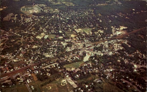 Aerial View Of Franklin Massachusetts