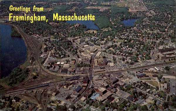 Aerial View Of Framingham Massachusetts