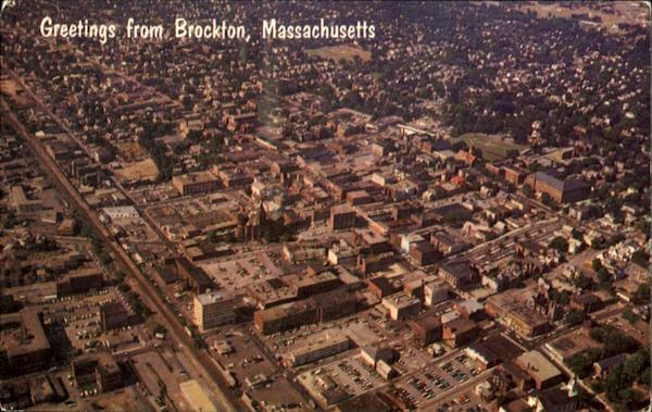 Aerial View Of Downtown Brockton Massachusetts