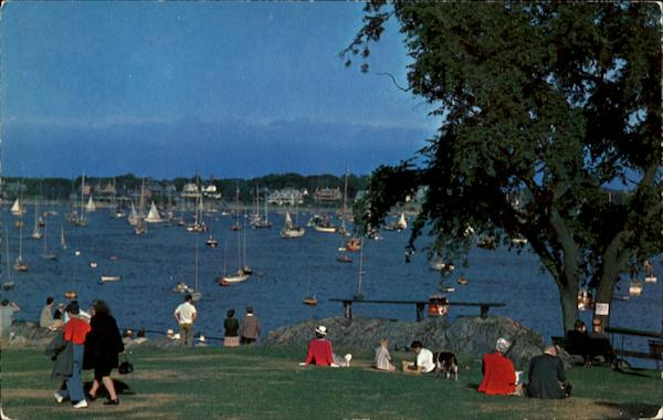 Watching Yachts During Race Week, Fort Sewell Marblehead Massachusetts