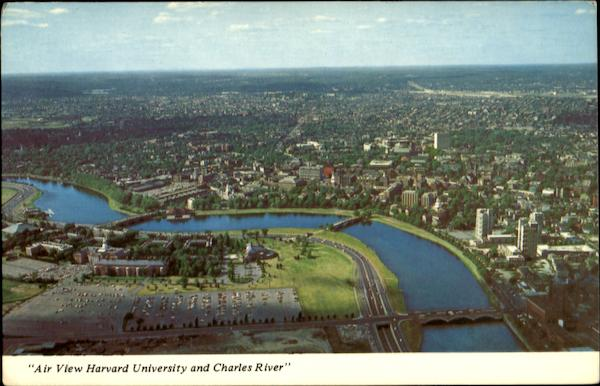 Air View Harvard University And Charles River Cambridge Massachusetts