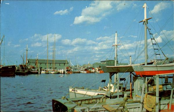 A Colorful View Of The Fishing Boats And Pleasure Yachts New Bedford Massachusetts