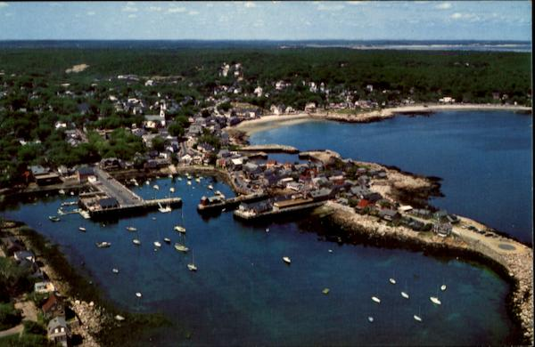 Air View Of Bearskin Neck Rockport Massachusetts