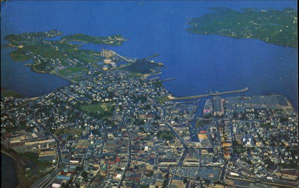 Air View Of City Of Salem, Salem Harbor Massachusetts
