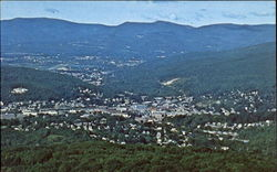 The Spectacular View Of North Adams And Mt. Greylock Postcard