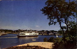 S. S. Siasconset Leaving Hyannis Harbor Postcard