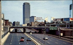 Approaching Prudential Center On The Massachusetts Turnpike