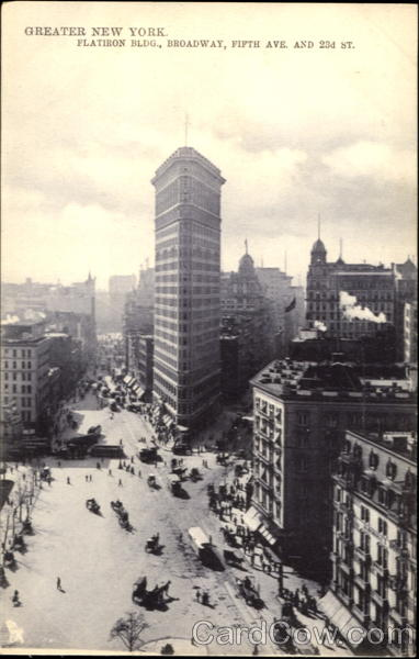 Greater New York Flatiron Bldg, Broadway, Fifth Ave, 23rd St New York City