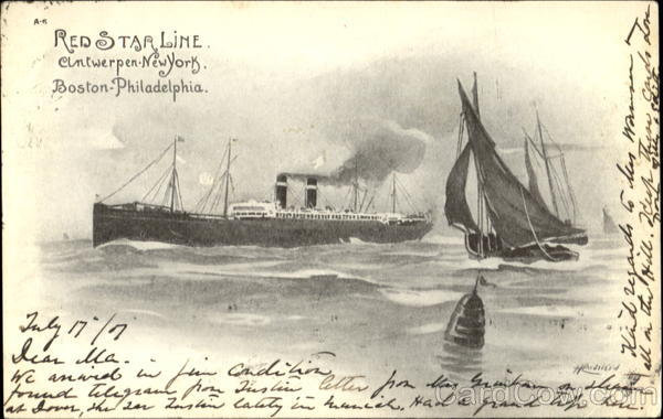 Red Star Line, Boston-Philadelphia Antwerp New York