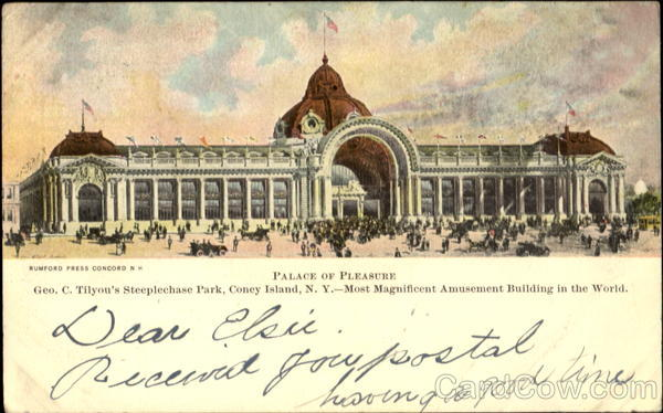 Palace Of Pleasure, Geo C. Tilyou's Steeplechase Park Coney Island New York