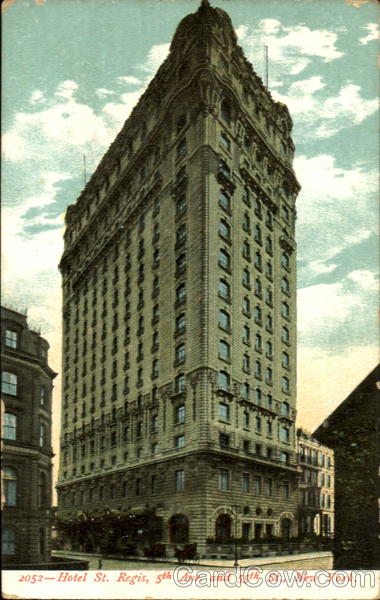 Hotel St. Regis, 5th Ave. and 55th St New York City
