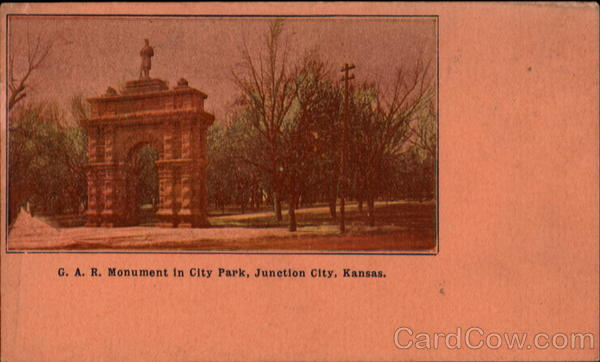 G.A.R. Monument In City Park Junction City Kansas