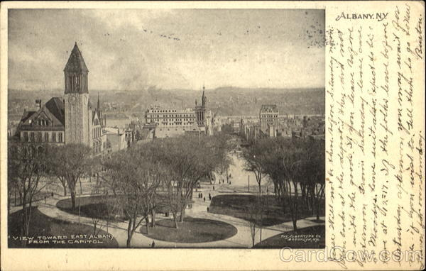 View Toward East Albany From The Capitol New York
