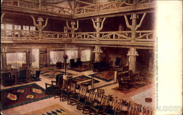 Interior Old Faithful Inn, Yellowstone Park Yellowstone National Park
