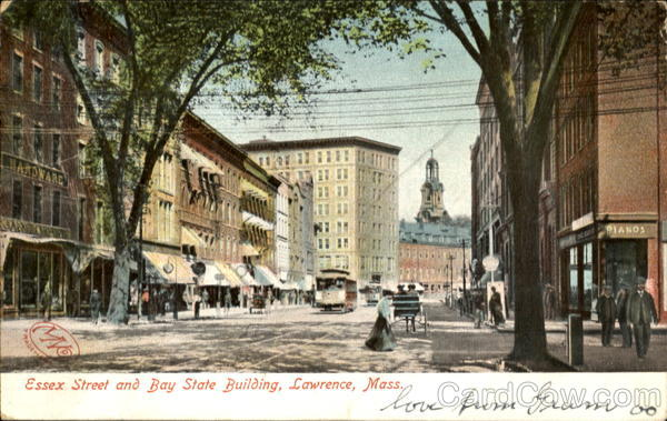 Essex Street And Bay State Building Postcard